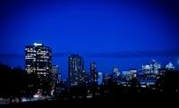Montréal, à la tombée de la nuit