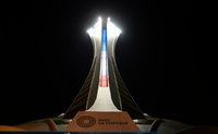 Stade olympique, la nuit