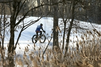 Vélo sur neige