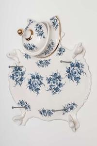 Dépouille aux fleurs Bleu de Delf
