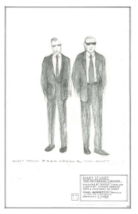 Costume Sketch: Nigel Bennett and Brad Hodder as Secret Service