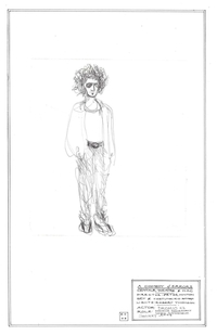 Dromio (Debra Kischenbaum) - Comedy of Errors costume sketch