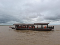 Tourists on the Mekong