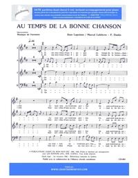 SATB choral _ Au temps de la bonne chanson