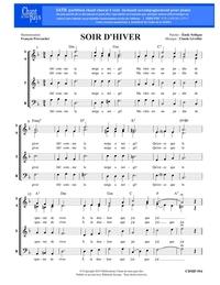 SATB choral _ Soir d'hiver