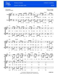 SATB choral _ Frédérique