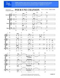 SATB choral _ Pour une chanson