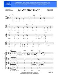 SATB choral _ Quand mon piano