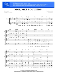 SATB choral _ Moi, mes souliers