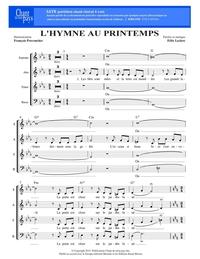 SATB choral _ L'hymne au printemps