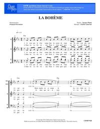 SATB choral _ La Bohème