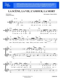 SATB choral _ La scène, la vie, l'amour, la mort