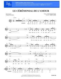 SATB choral _ Le cérémonial de l'amour