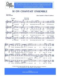 SATB choral _ Si on chantait ensemble