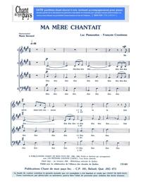 SATB choral _ Ma mère chantait