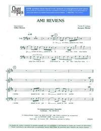 SATB choral _ Ami reviens