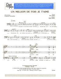SATB choral _ Un million de fois je t'aime
