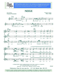 SATB choral _ Neige