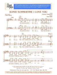 SATB choral _ Super Summertime I Love you