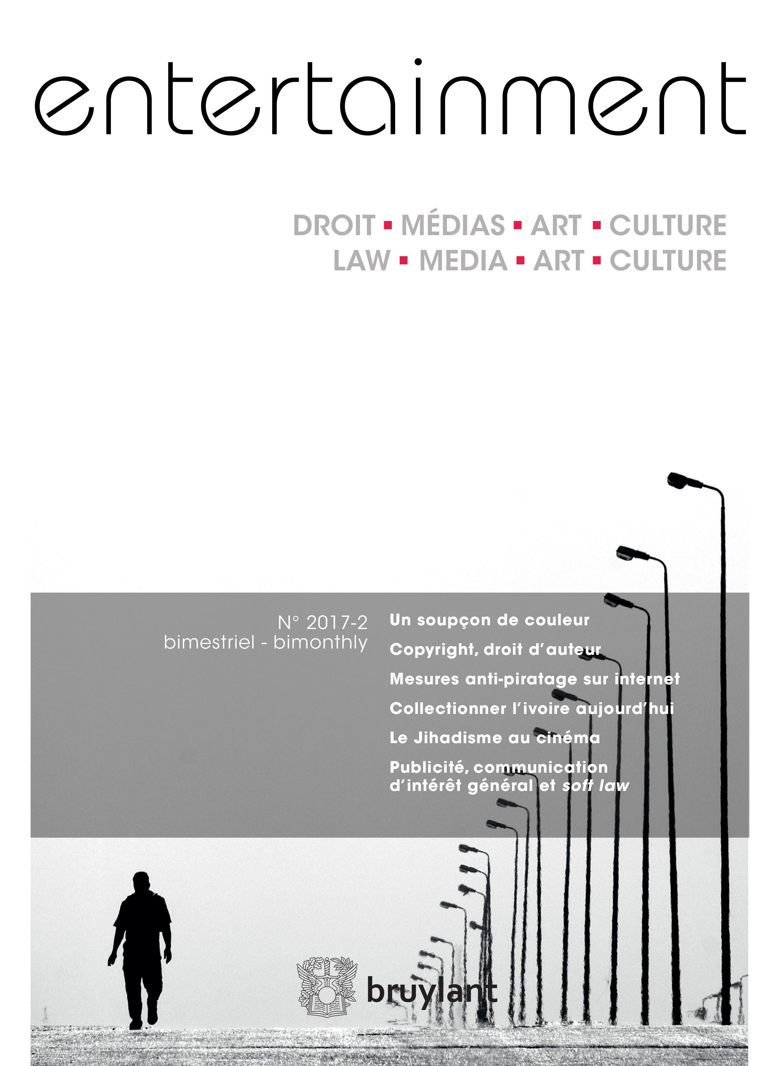 Entertainment - Droit, Médias, Art, Culture 2017/2