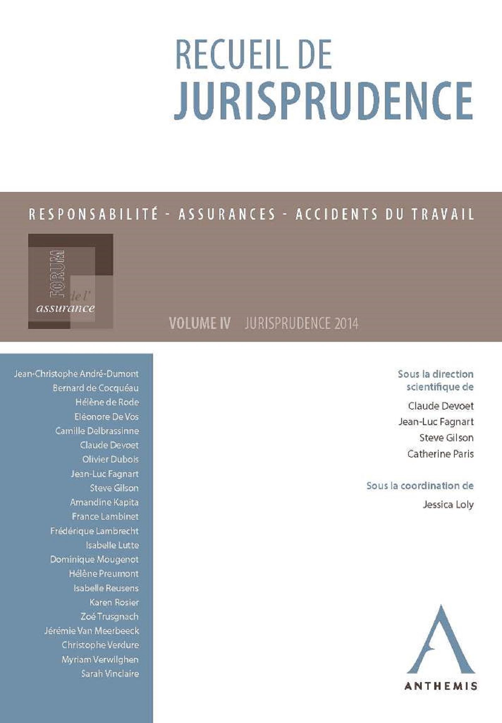 Recueil de jurisprudence du Forum de l'assurance