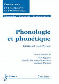 Phonologie et phonétique : ...
