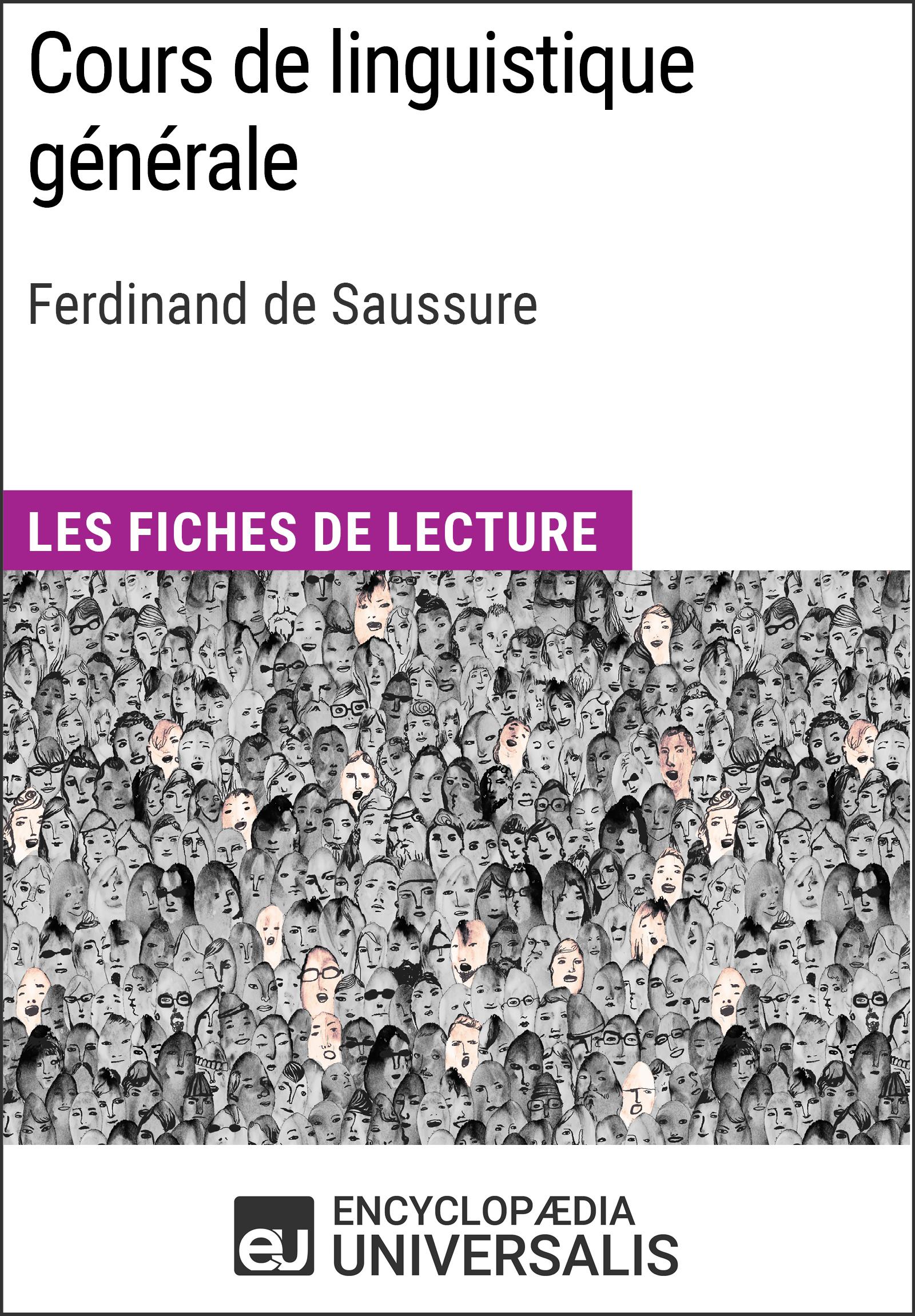 Cours de linguistique générale de Ferdinand de Saussure