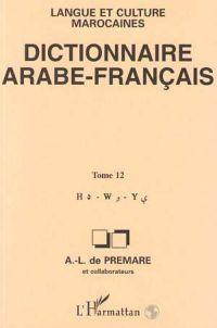 Dictionnaire arabe-français  t.12