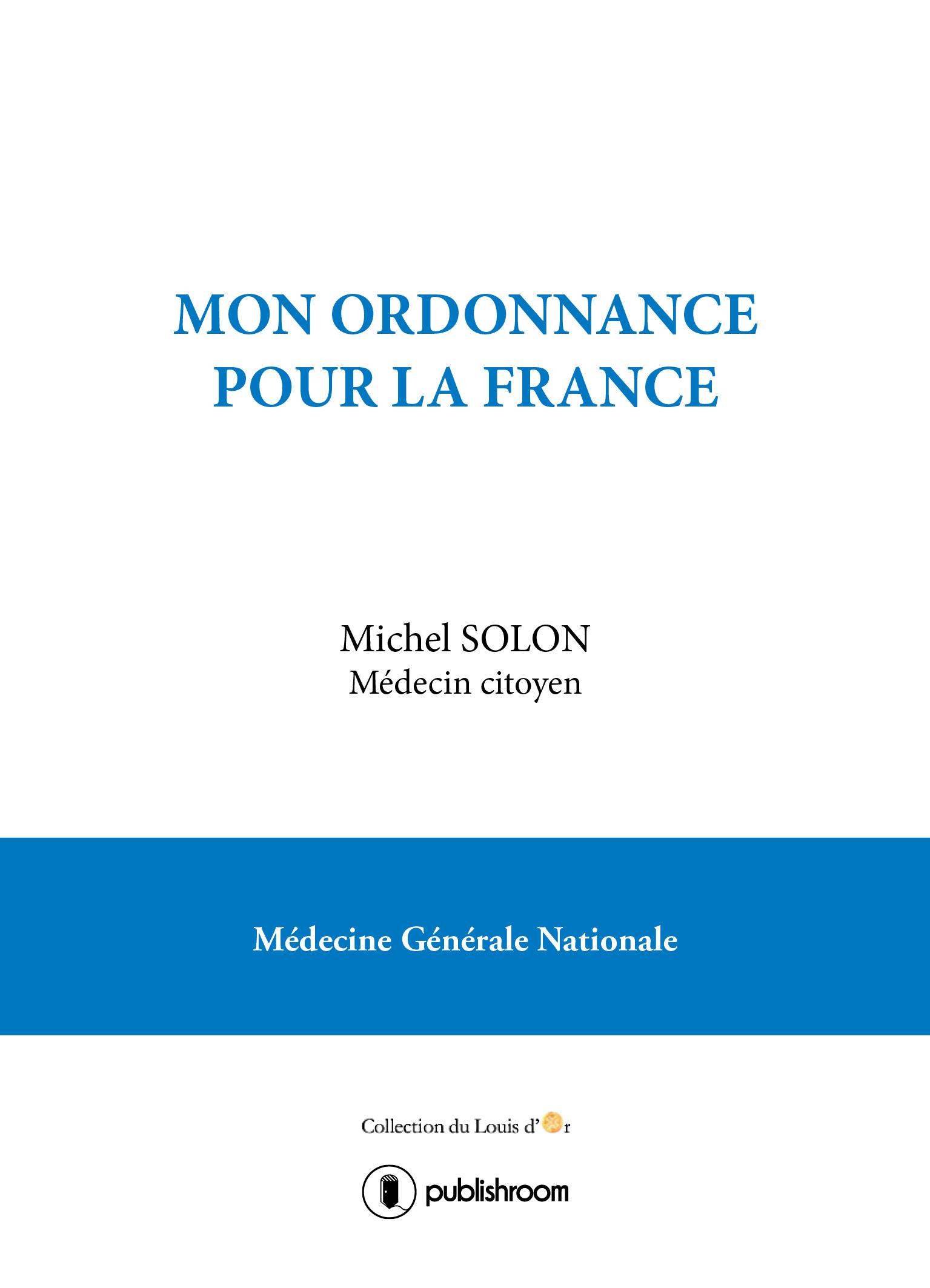 Mon ordonnance pour la France