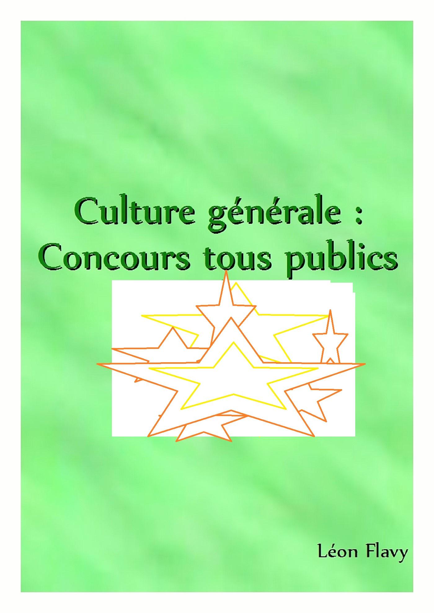 DISSERTATION DE CULTURE GENERALE CONCOURS*****