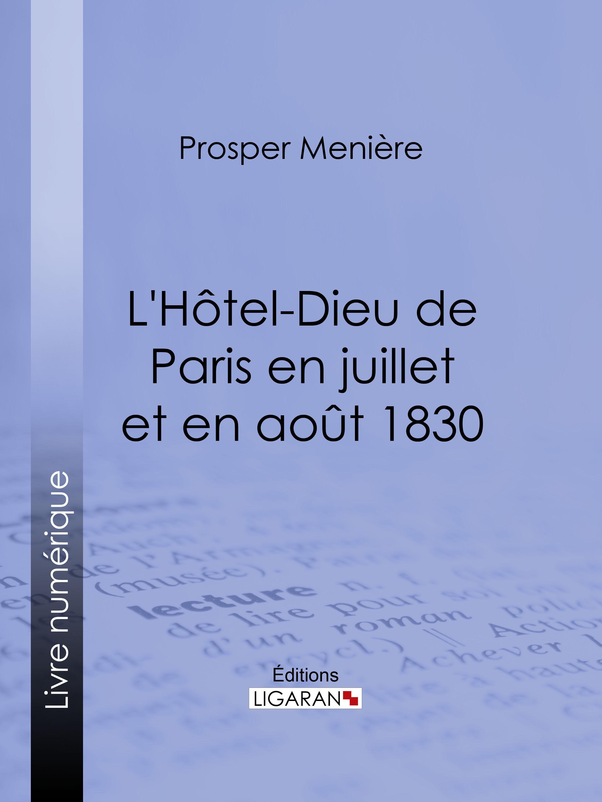 L'Hôtel-Dieu de Paris en juillet et en août 1830