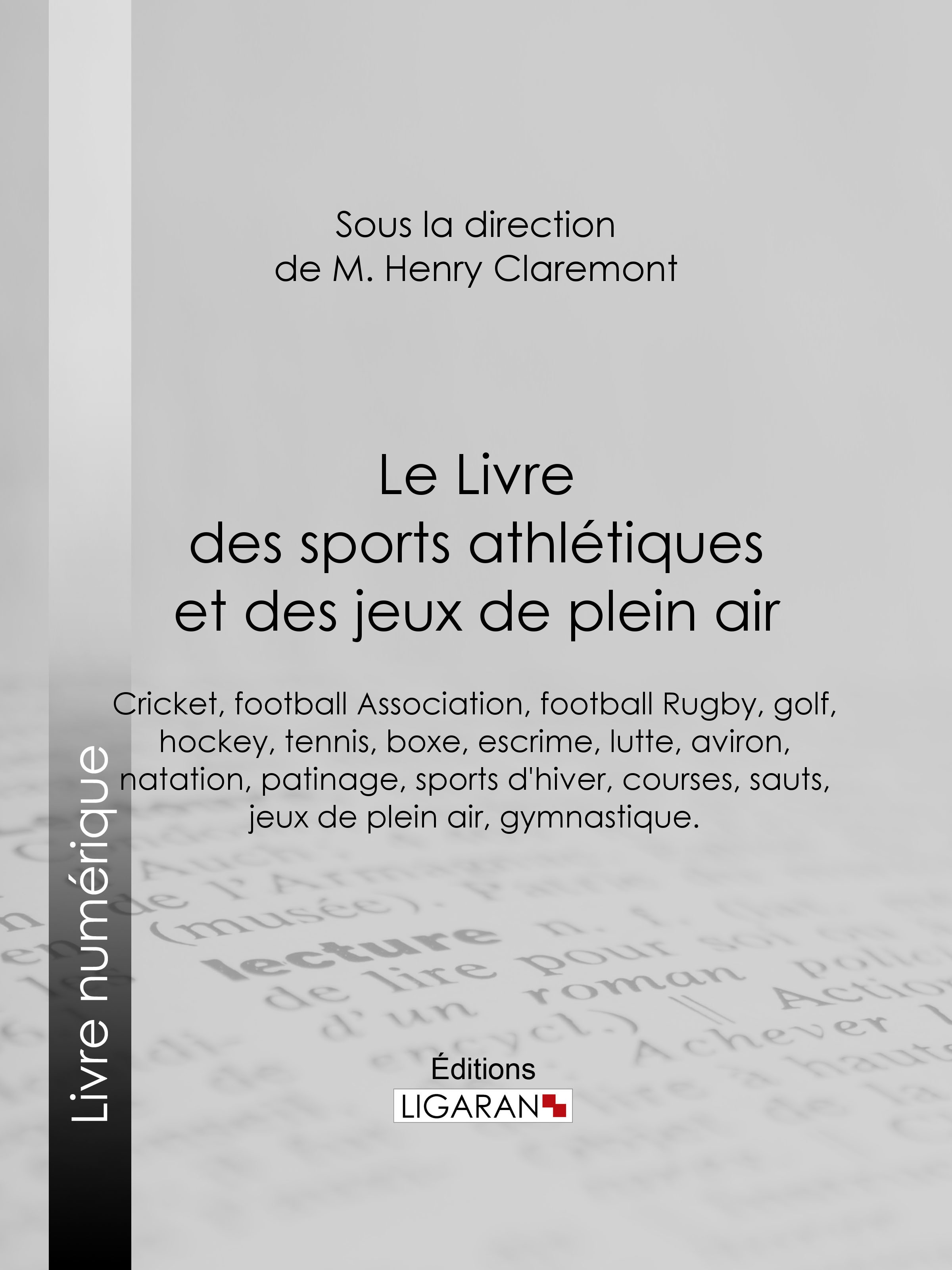 Le Livre des sports athlétiques et des jeux de plein air