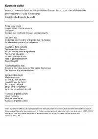Image de couverture (Écorniflé caillé)